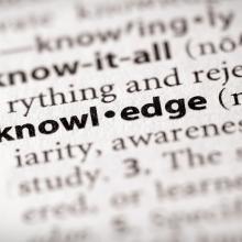 Knowledge stock image